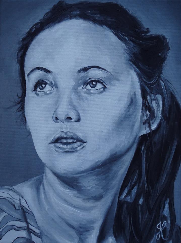 """Helena"" original fine art by Jacinthe Rivard"