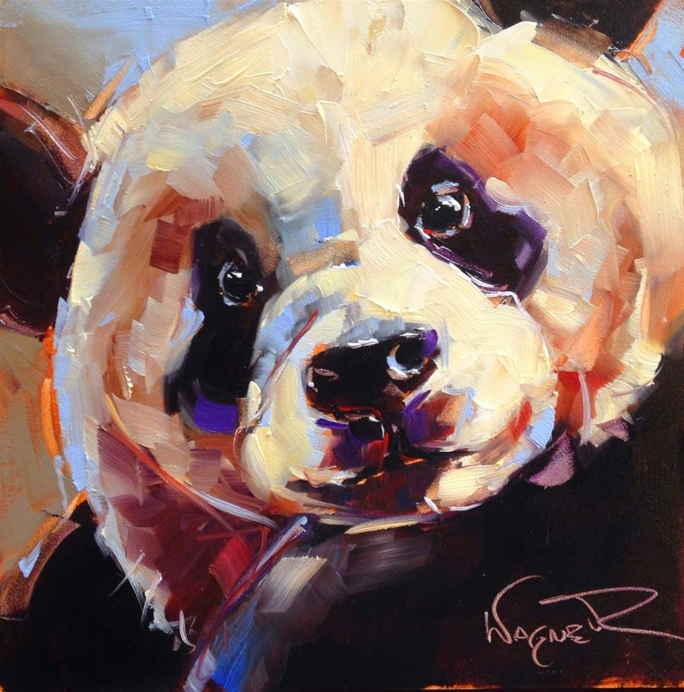 """ORIGINAL CONTEMPORARY PANDA BEAR PAINTING by OLGA WAGNER"" original fine art by Olga Wagner"