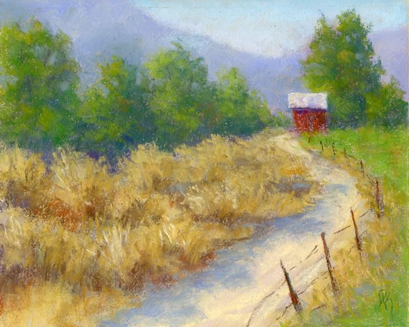 """Country Morning"" original fine art by David King"