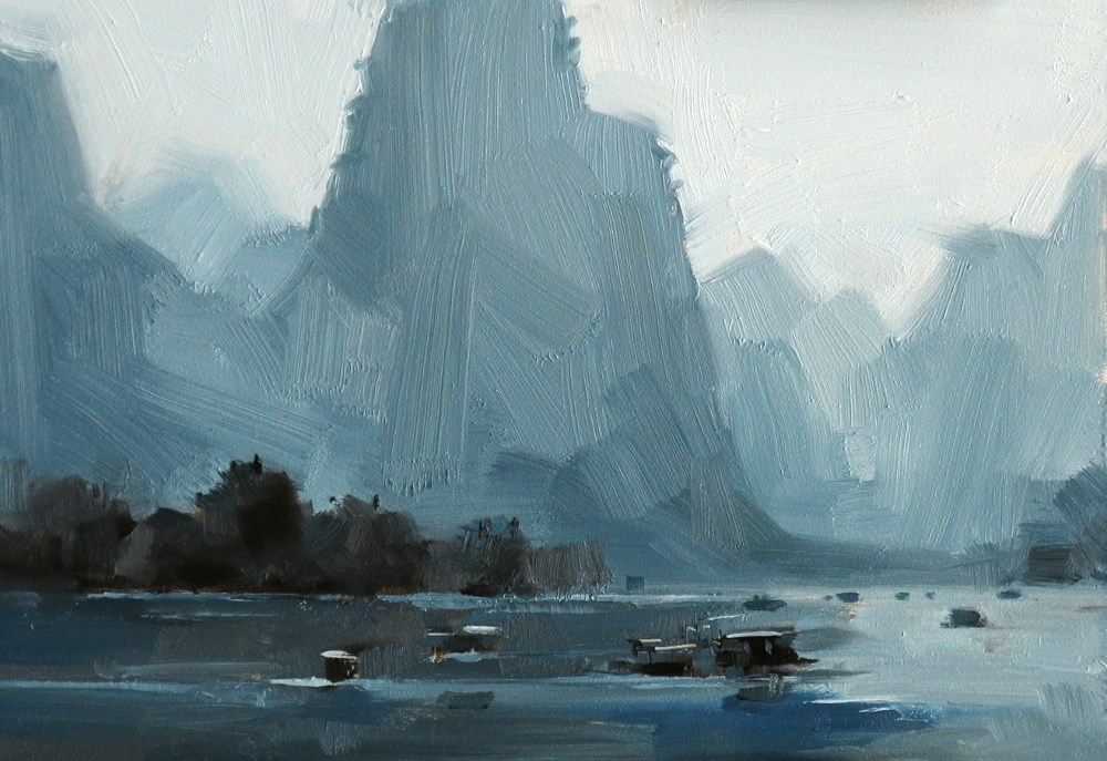"""""Guilin Color Study"" original fine art by Qiang Huang"