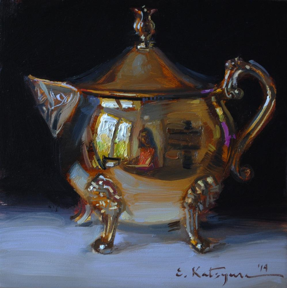 """Golden Creamer"" original fine art by Elena Katsyura"