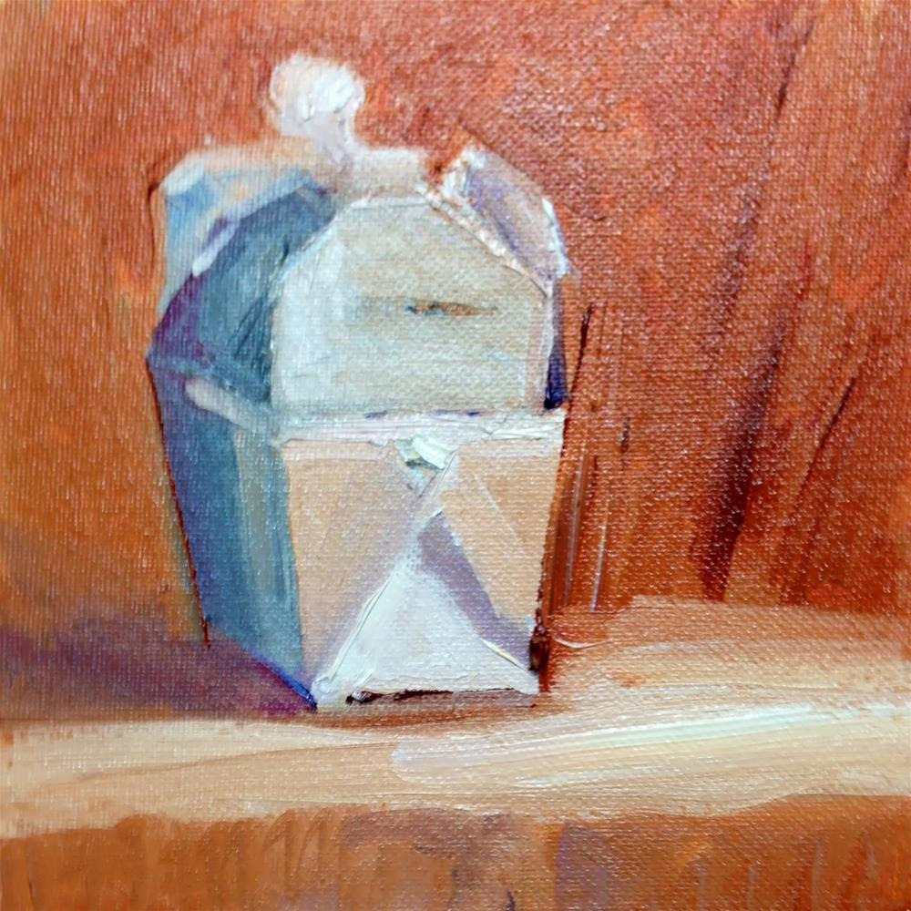 """""""Out of the Box"""" original fine art by Peggy Schumm"""