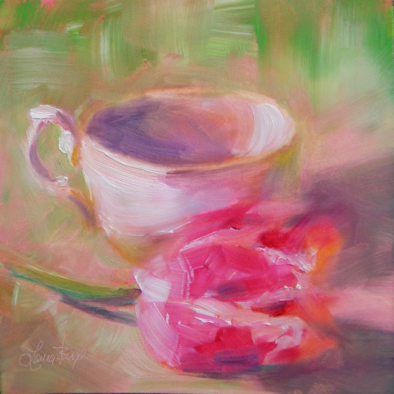 """Romancing the Tulip - 156"" original fine art by Laura  Buxo"