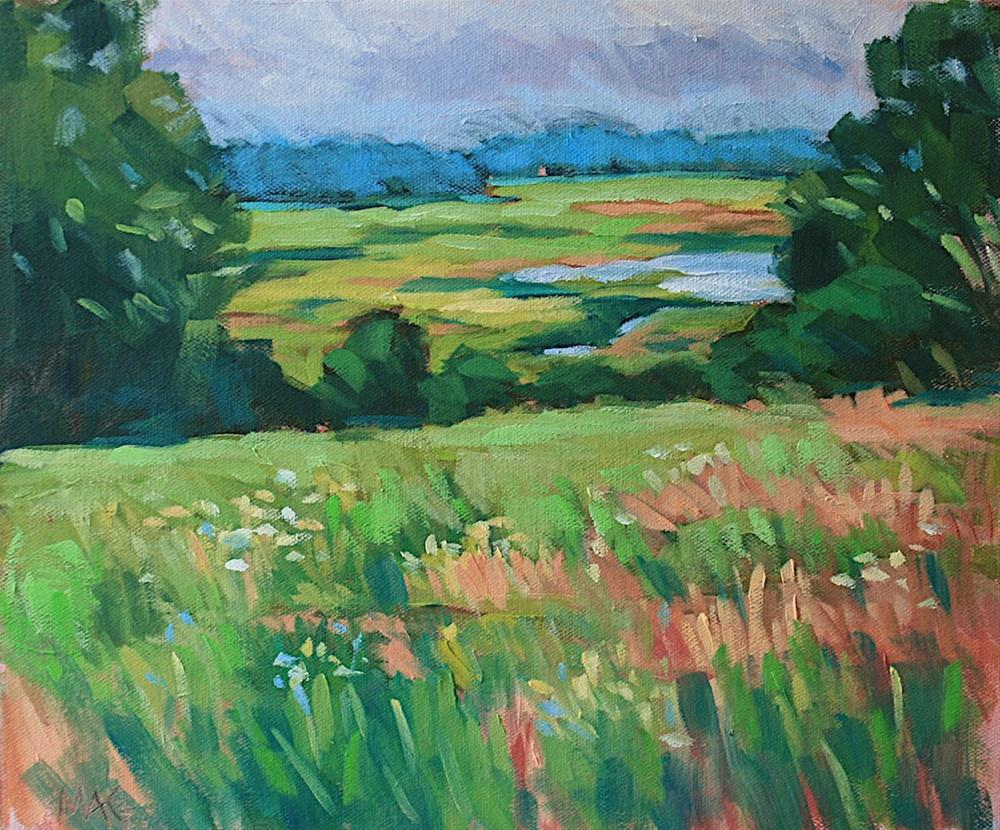 """Marsh View"" original fine art by Mary Anne Cary"