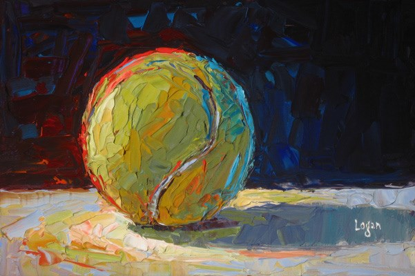 """Tennis Ball"" original fine art by Raymond Logan"