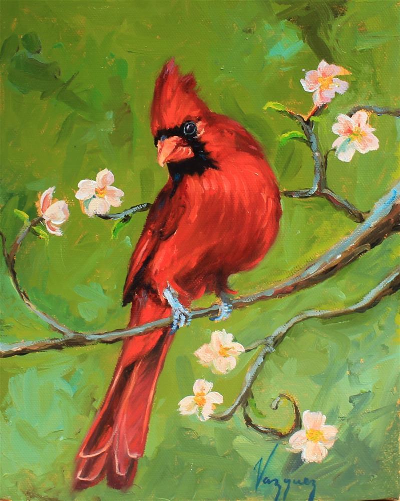 """""""Cardinal"""" original fine art by Marco Vazquez"""