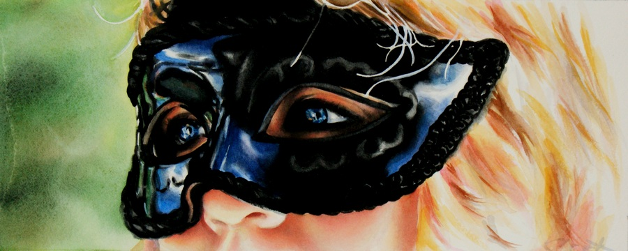 """Masquerade"" original fine art by Crystal Cook"