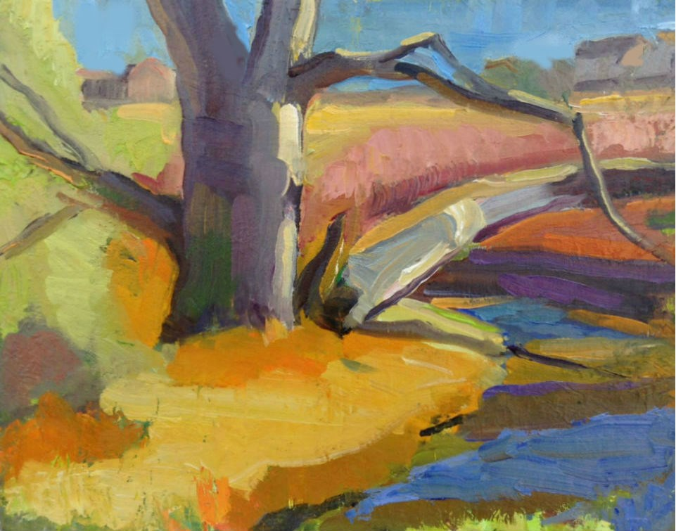 """Creek Shapes"" original fine art by Michael McConnell"