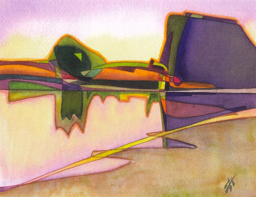 """Willamette Dawn"" original fine art by Mark Allison"