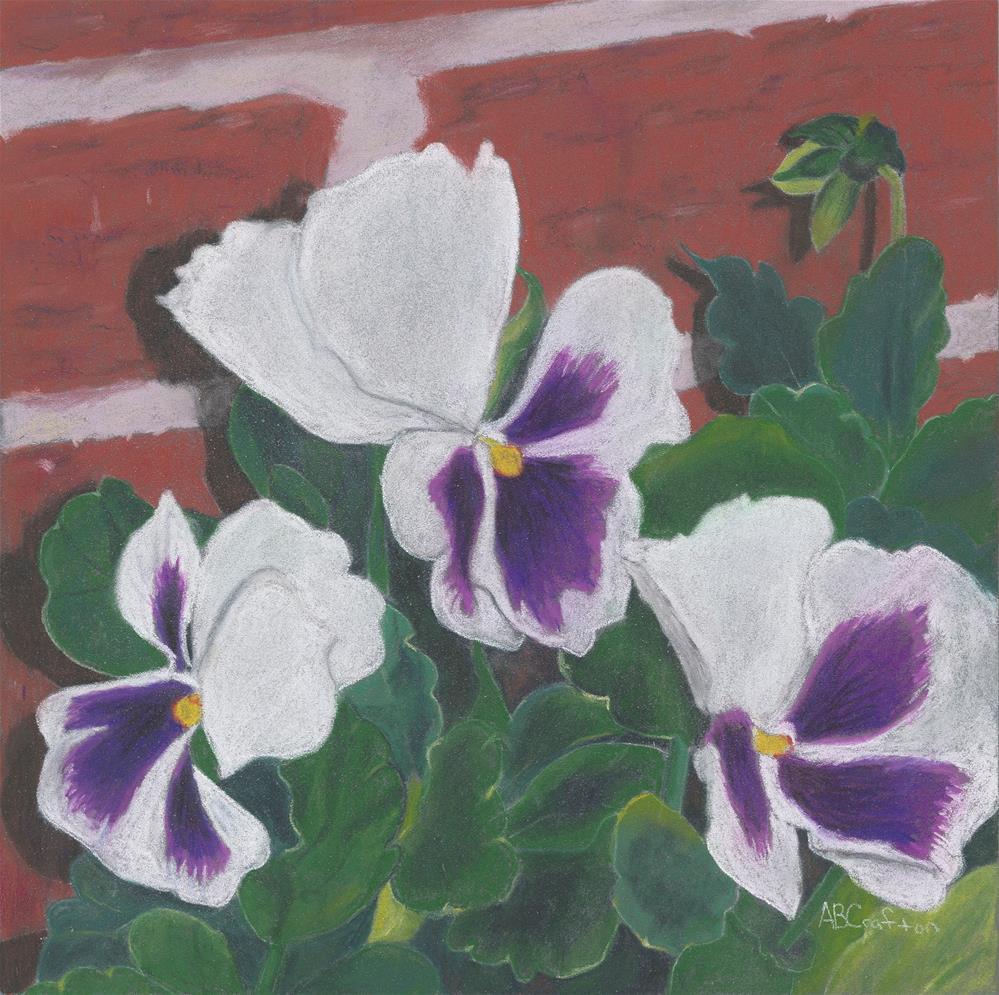 """Pansies"" original fine art by Arlene Crafton"