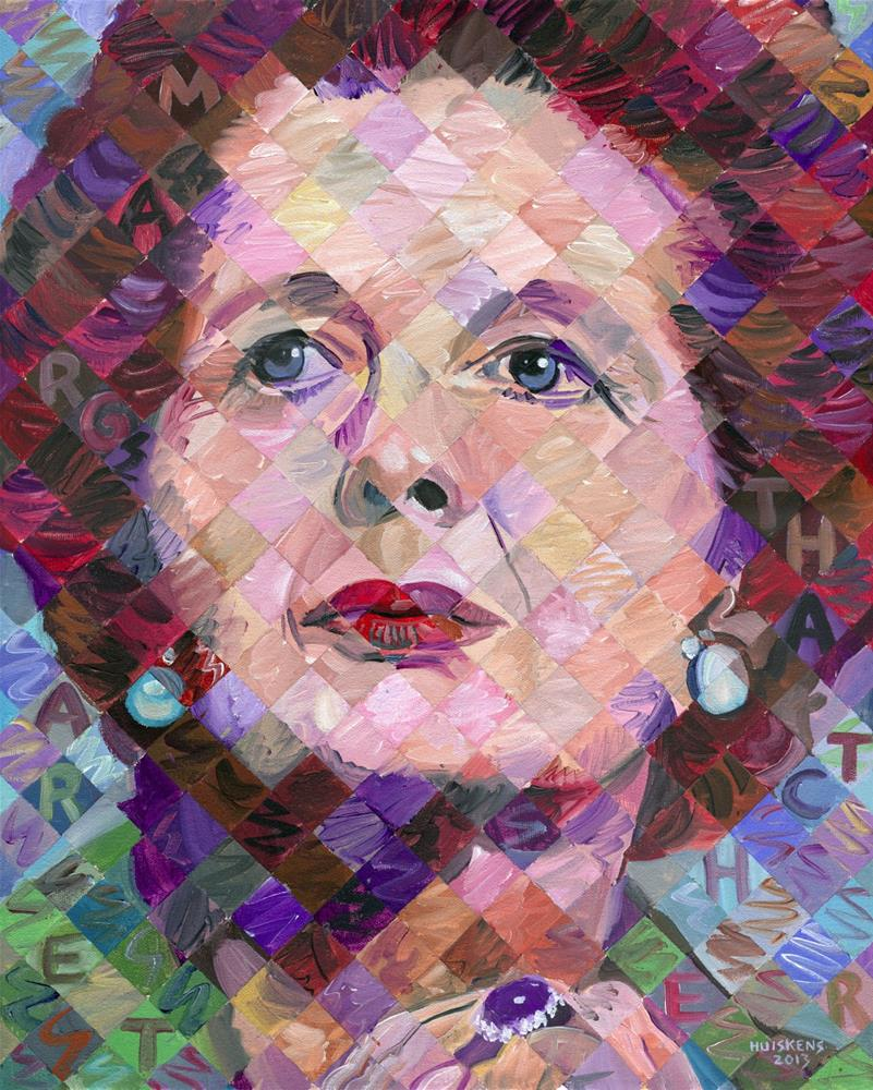 """Margaret Thatcher"" original fine art by Randal Huiskens"
