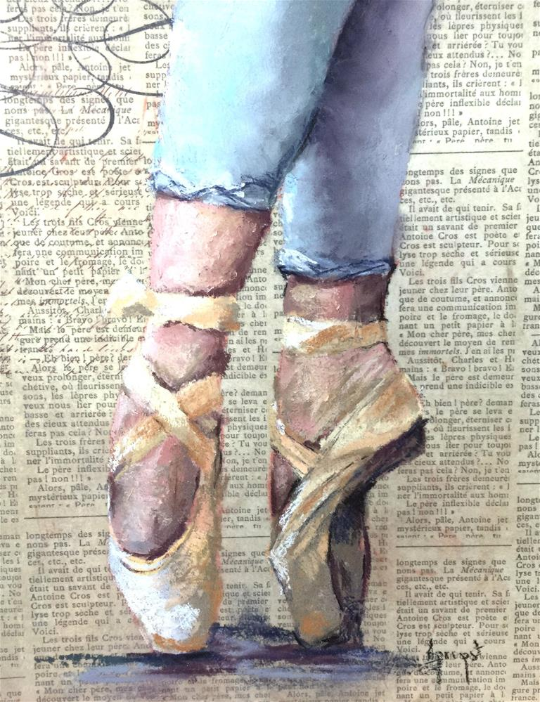 """Ballet Slippers"" original fine art by Anne Marie Propst"