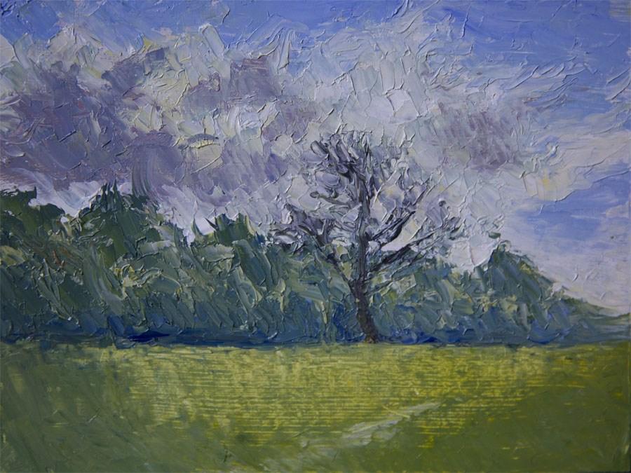 """Bare Tree"" original fine art by Jethro Knight"