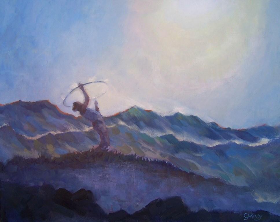 """Equinox Balance"" original fine art by Cedar Kindy"