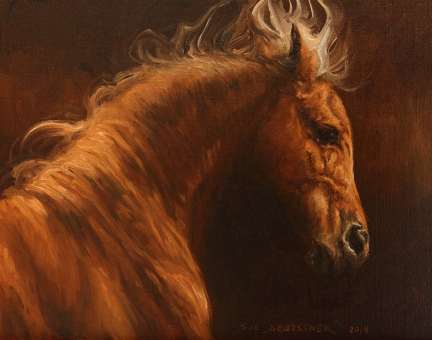 """""""Casanova"""" original fine art by Sue Deutscher"""