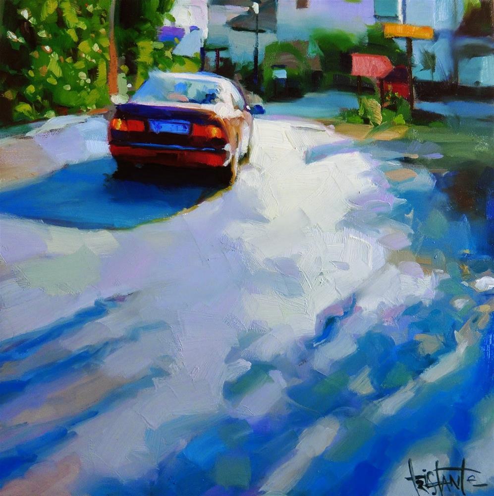 """Backlight car"" original fine art by Víctor Tristante"