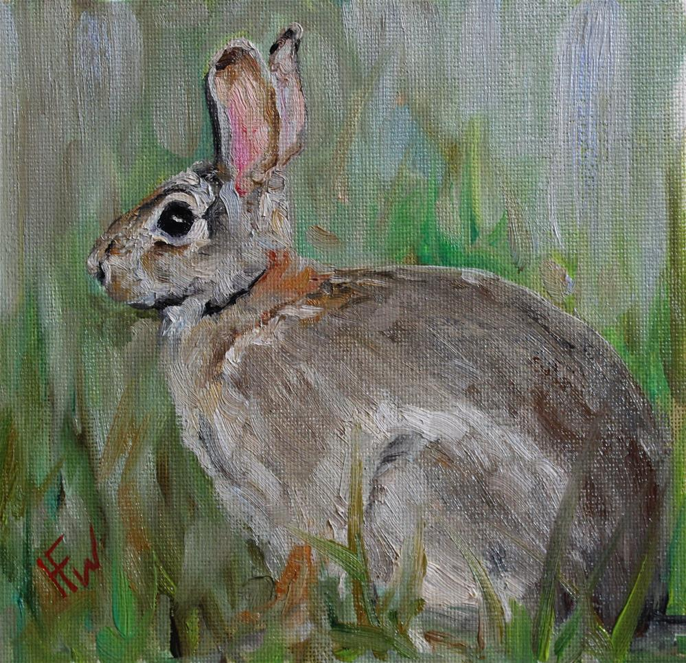 """March Hare"" original fine art by H.F. Wallen"