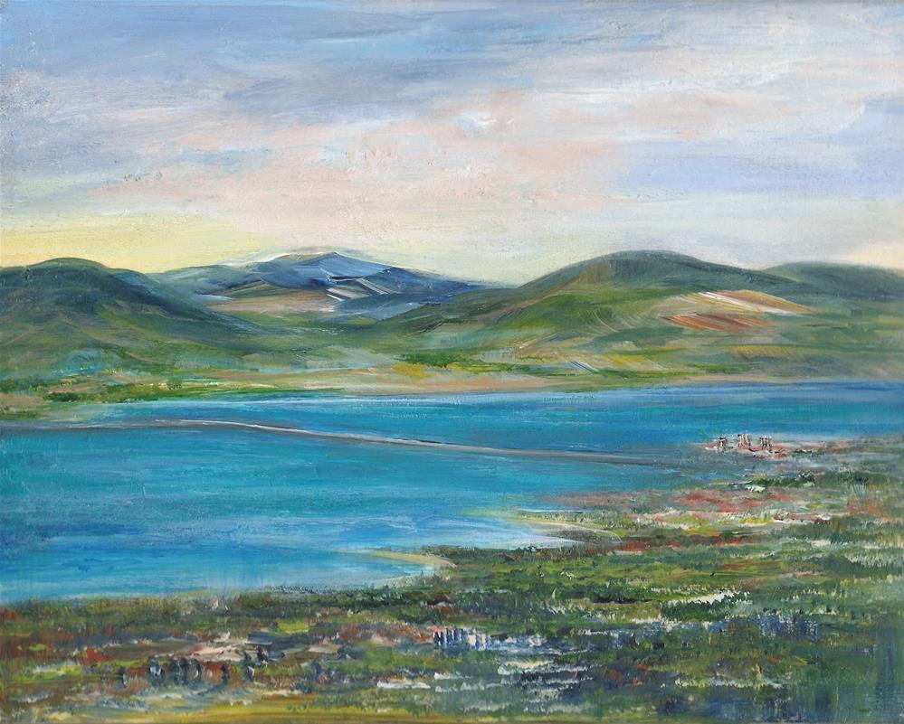 """6073 - The Lake Bridge"" original fine art by Sea Dean"