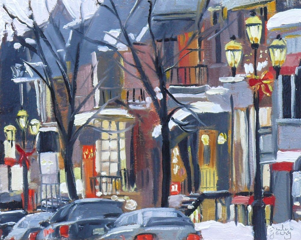 """580 Montreal Rue Crescent"" original fine art by Darlene Young"