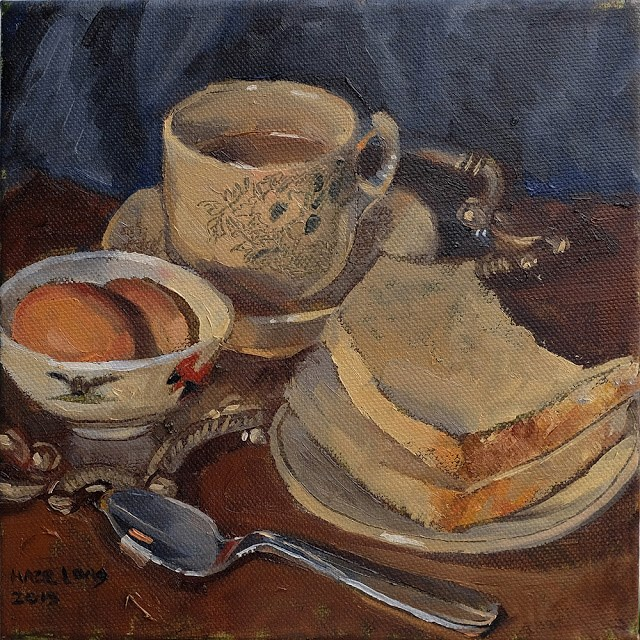 """Nonya Breakfast"" original fine art by Haze Long"