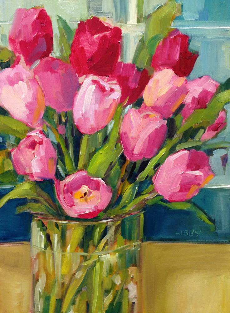 """Friday Tulips"" original fine art by Libby Anderson"