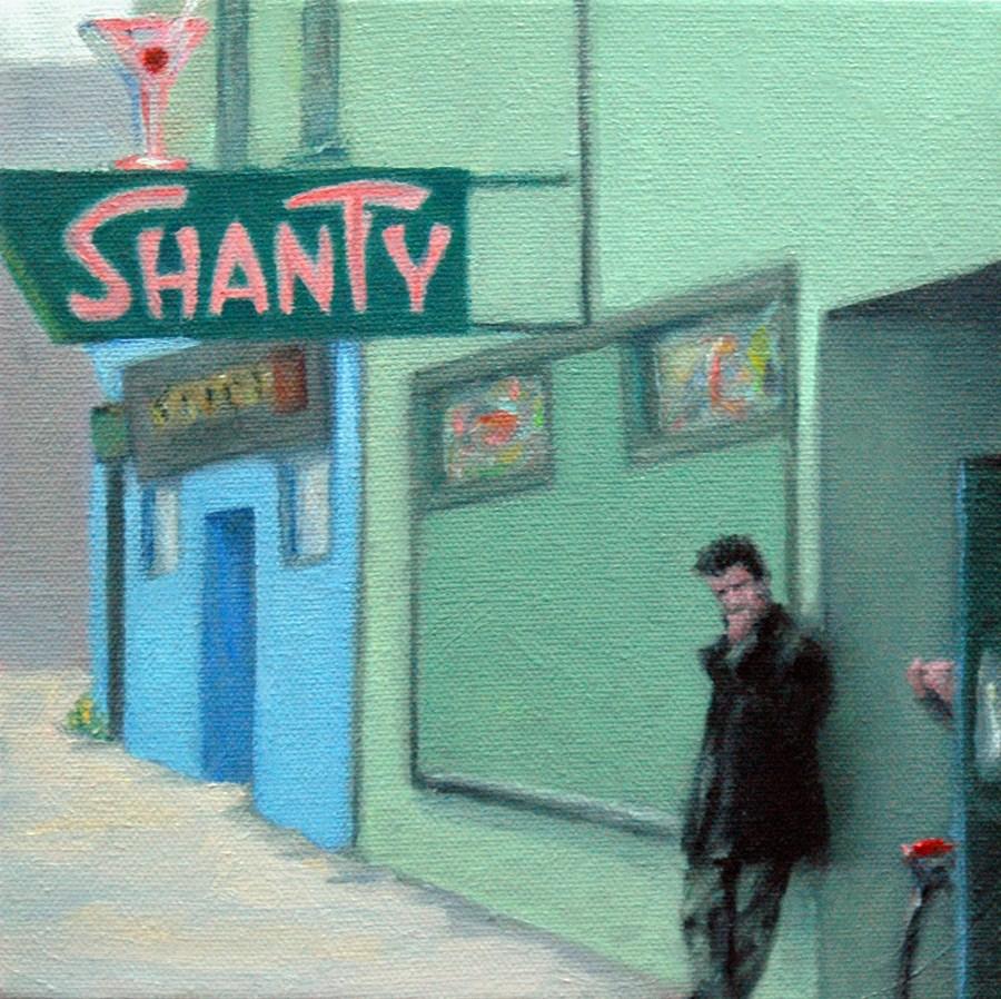 """The Shanty"" original fine art by Rachel K Schlueter"