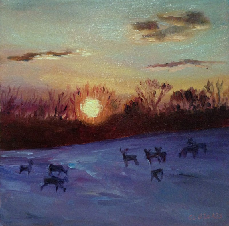 """The Home Field, Day 99"" original fine art by Claudia L Brookes"