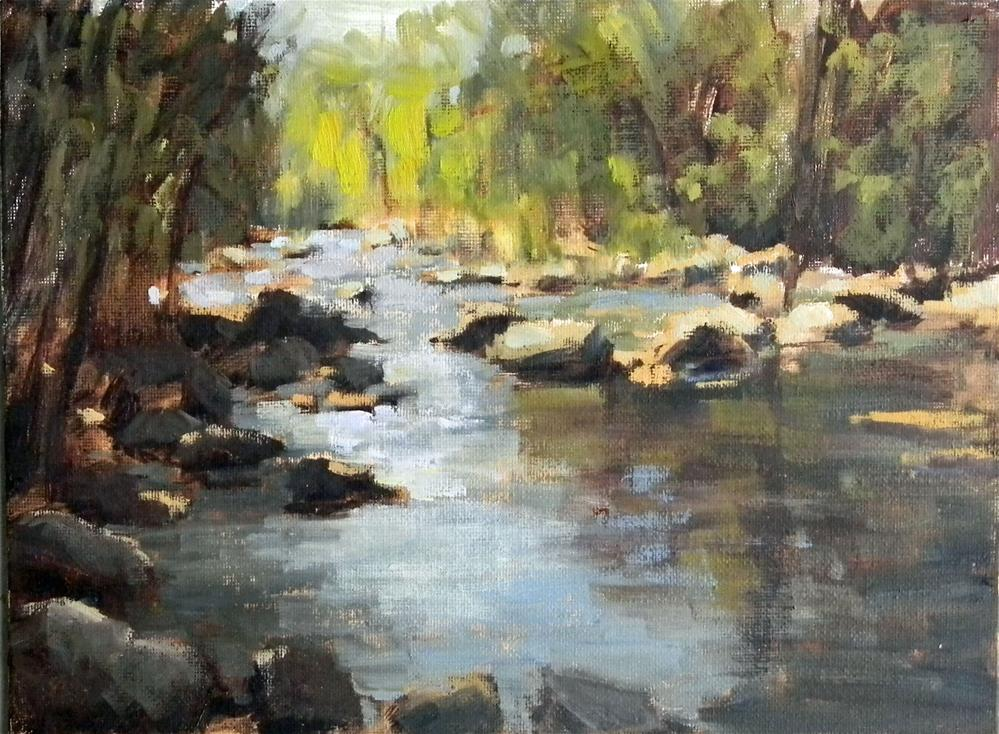 """""""Morning Reflections"""" original fine art by Barbie Smith"""