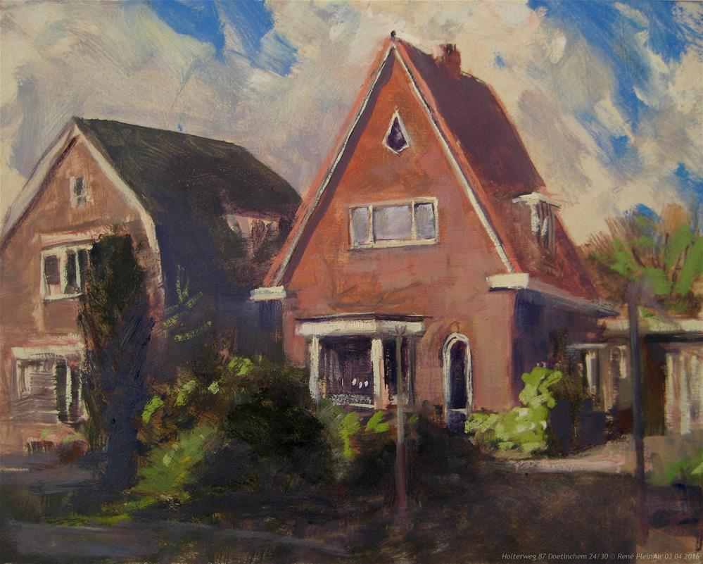 """Where my dad used to live"" original fine art by René PleinAir"