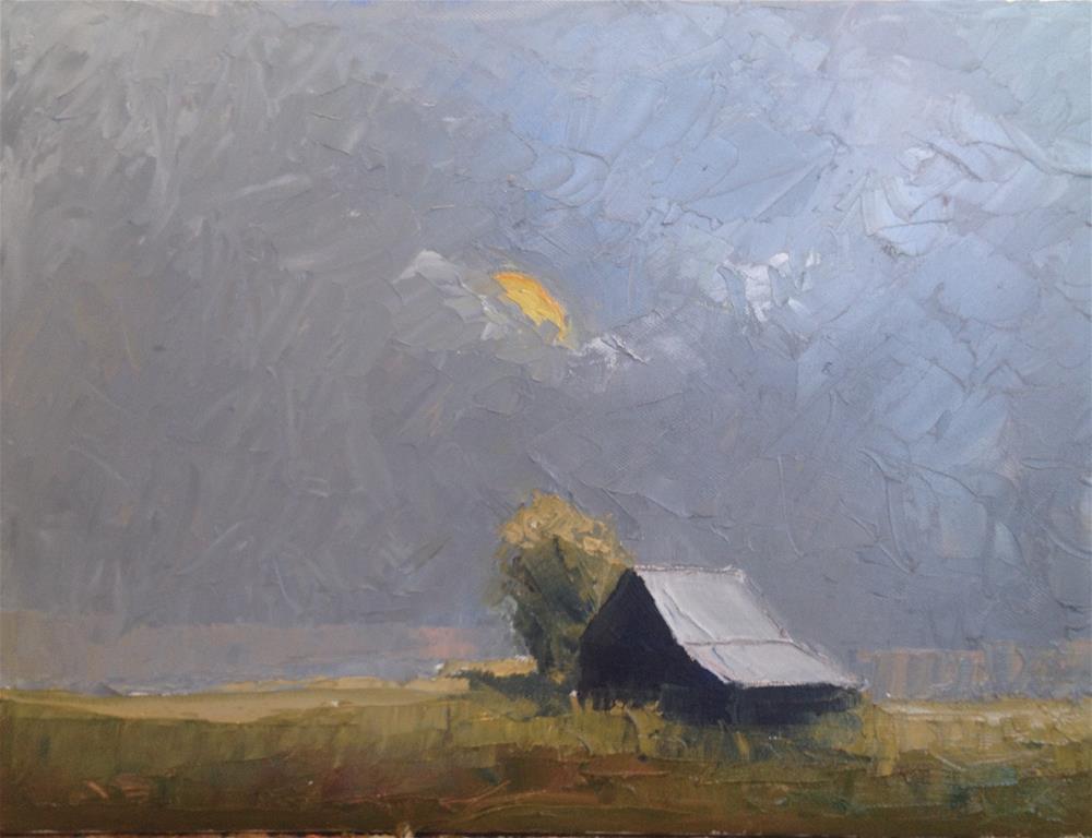 """sun and barn"" original fine art by paul smith"