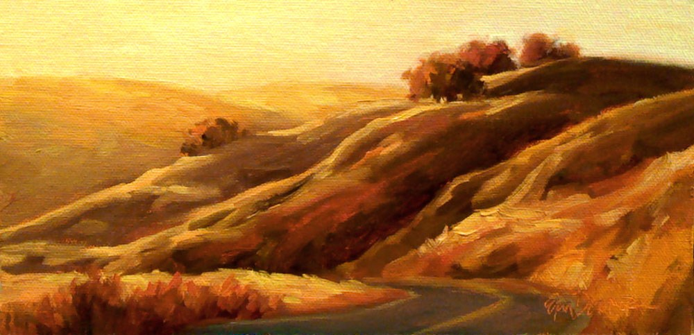 """Golden Hillcrests"" original fine art by Erin Dertner"