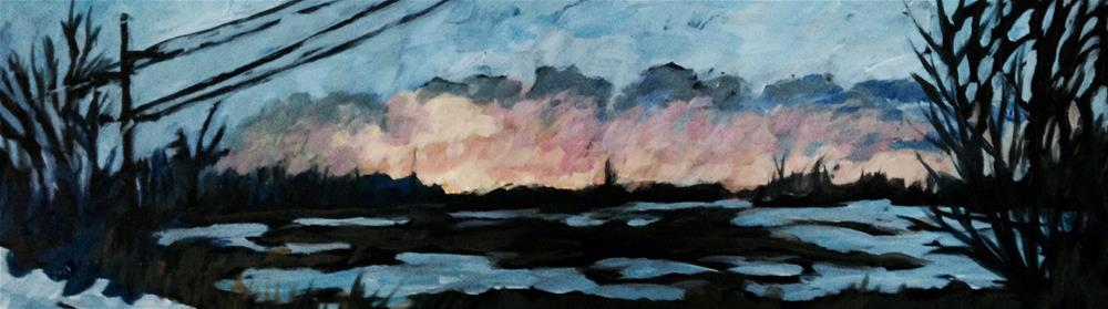 """Sunset Over the Marsh"" original fine art by Rita Corrigan"