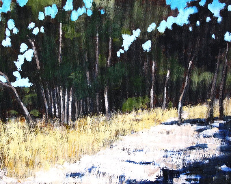 """The Eucalyptus Forest 3"" original fine art by Kevin Inman"