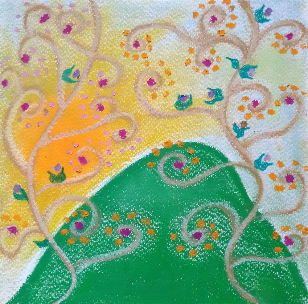"""Singing Flowers"" original fine art by Adéla Svobodová"