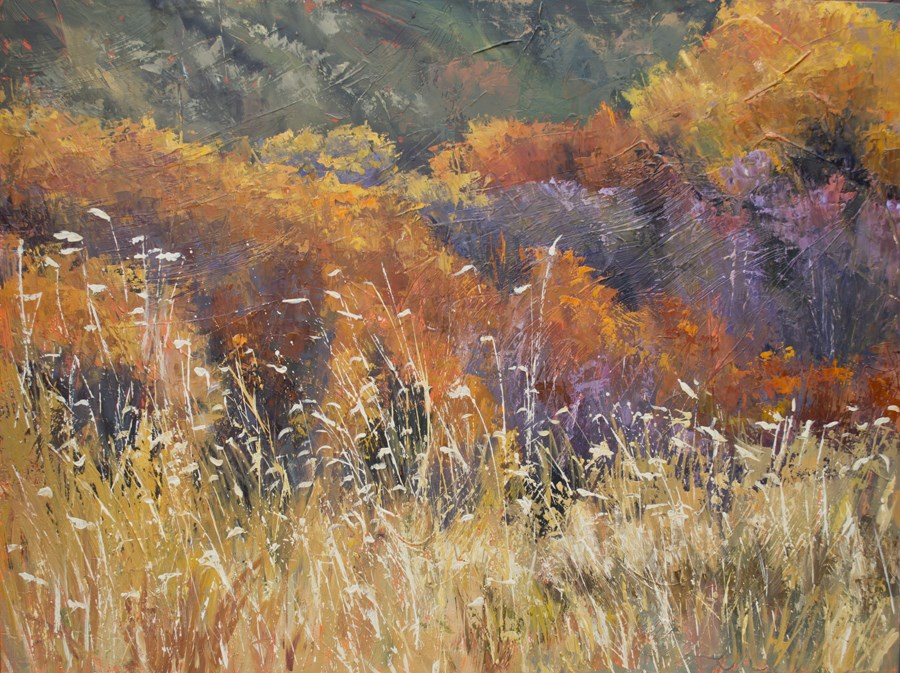 """KM2908 Autumn Spirit by Colorado artist Kit Hevron Mahoney (36x48 oil landscape, fall, autumn Colora"" original fine art by Kit Hevron Mahoney"