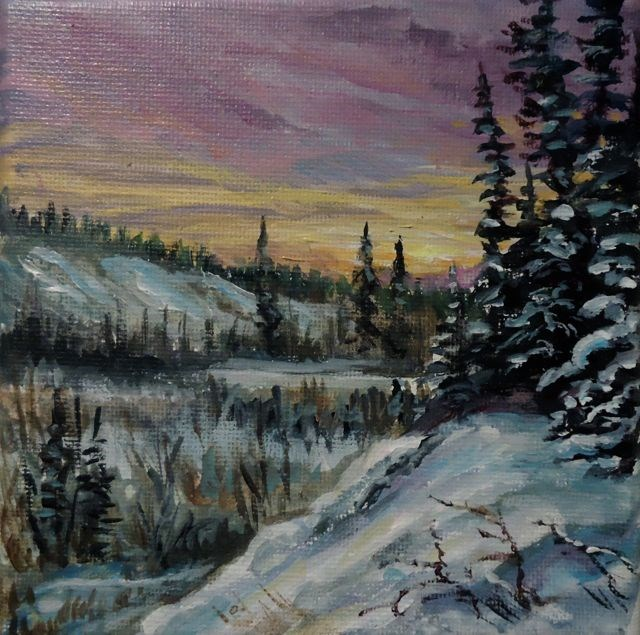 """Evening Along the Magundy"" original fine art by Jackie Irvine"