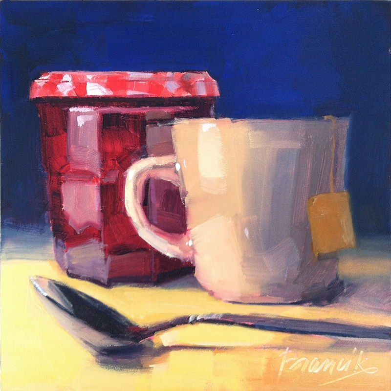 """Tea, a Drink with Jam and Bread"" original fine art by Candace Brancik"