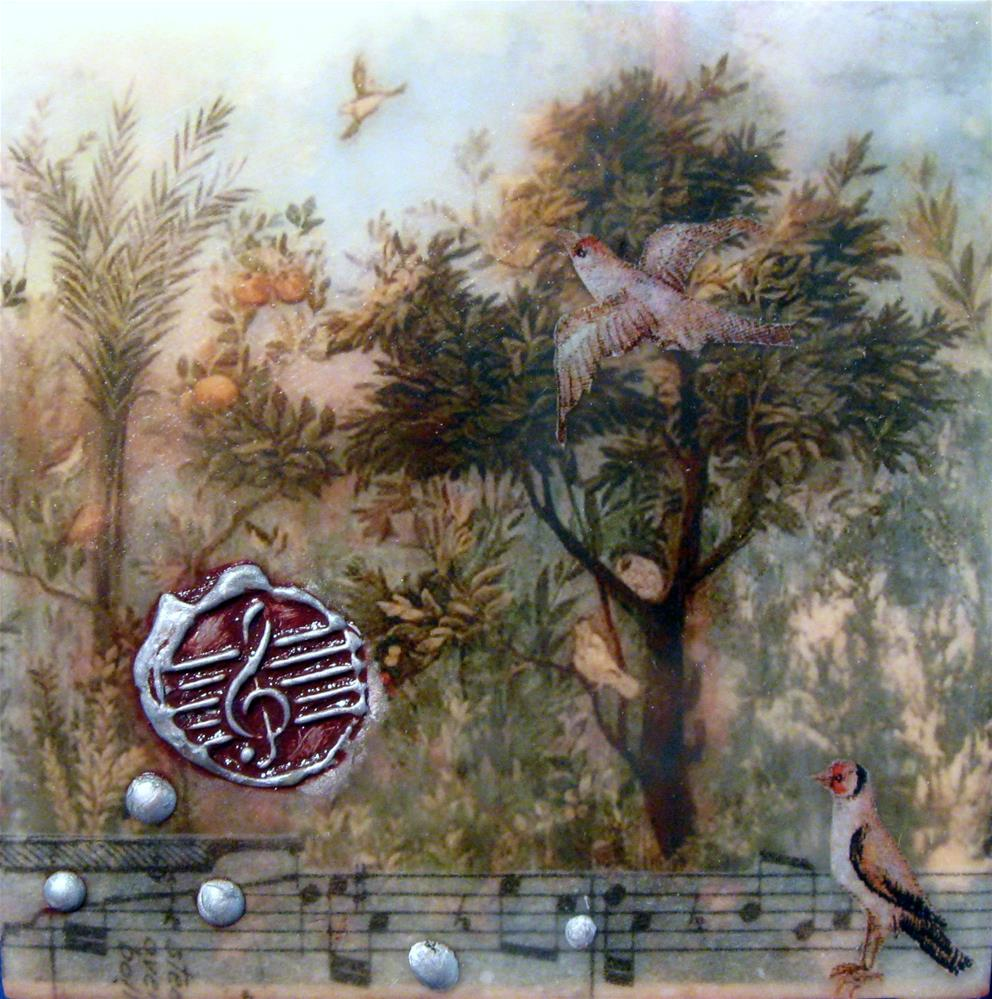 """""""Birds Song"""" original fine art by Danielle M. Le  Bris"""