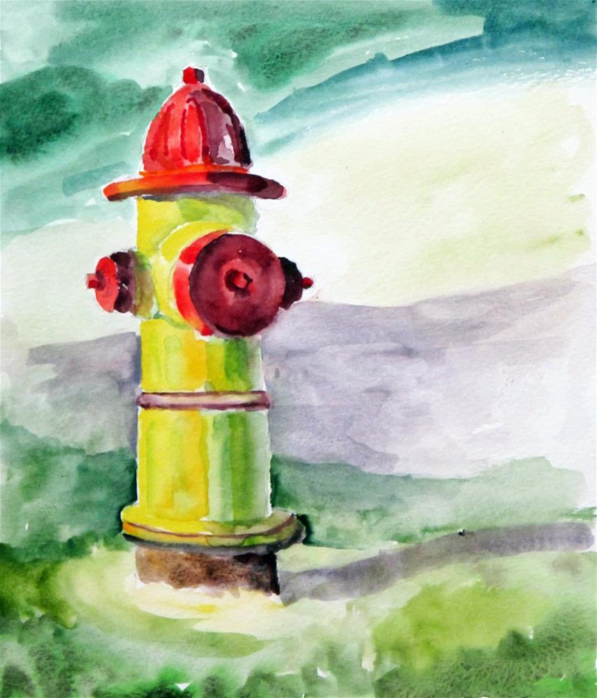 """Fire Hydrant"" original fine art by  David Beale"