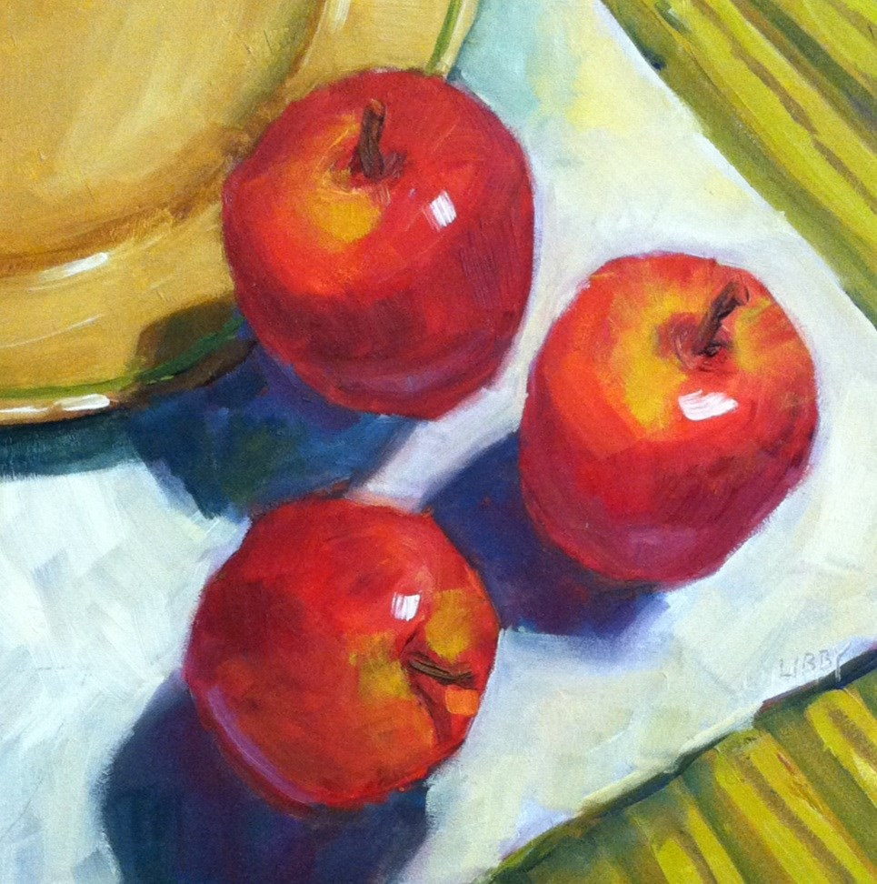"""""""Three for Lunch"""" original fine art by Libby Anderson"""