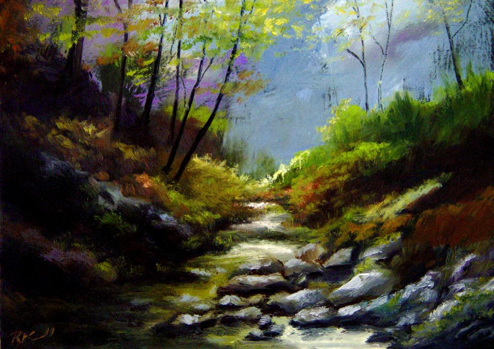 """Virgin River"" original fine art by Bob Kimball"