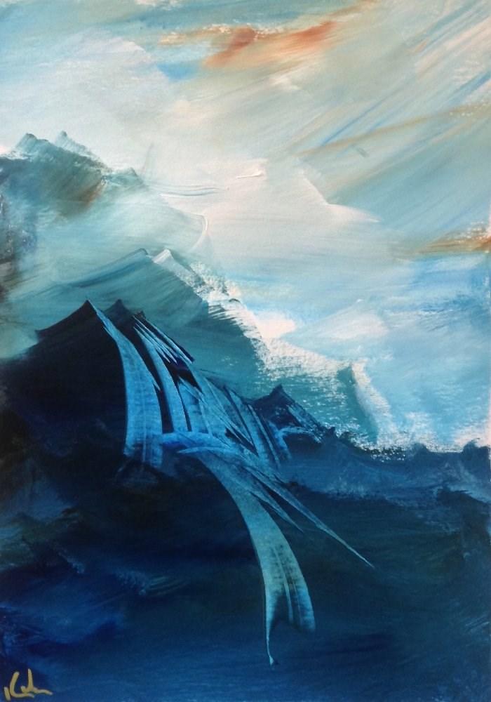 """Inwardly Began"" original fine art by David Kuhn"
