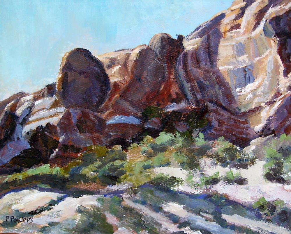"""Moab, Utah"" original fine art by Patricia J. Powers"
