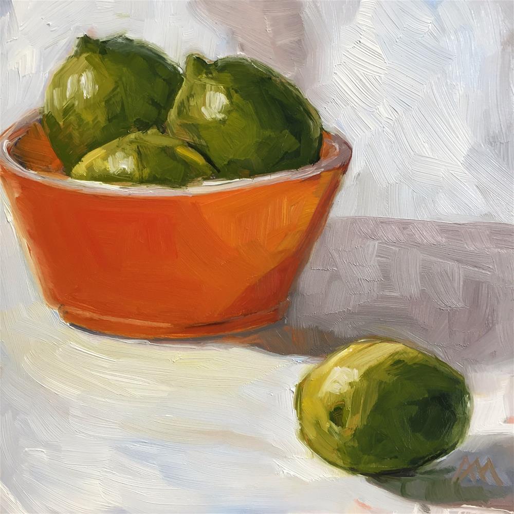 """Orange Bowl of Limes"" original fine art by Austin Maloney"