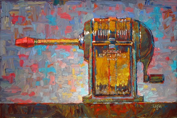 """Enduro Dixon No. 20 Pencil Sharpener"" original fine art by Raymond Logan"