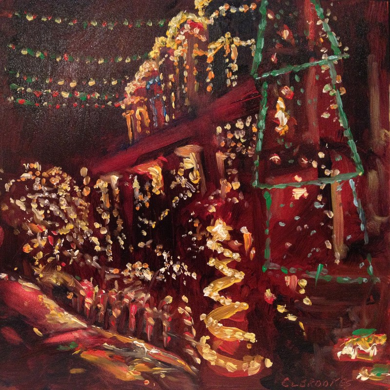 """34th Street Christmas IV, Day 78"" original fine art by Claudia L Brookes"