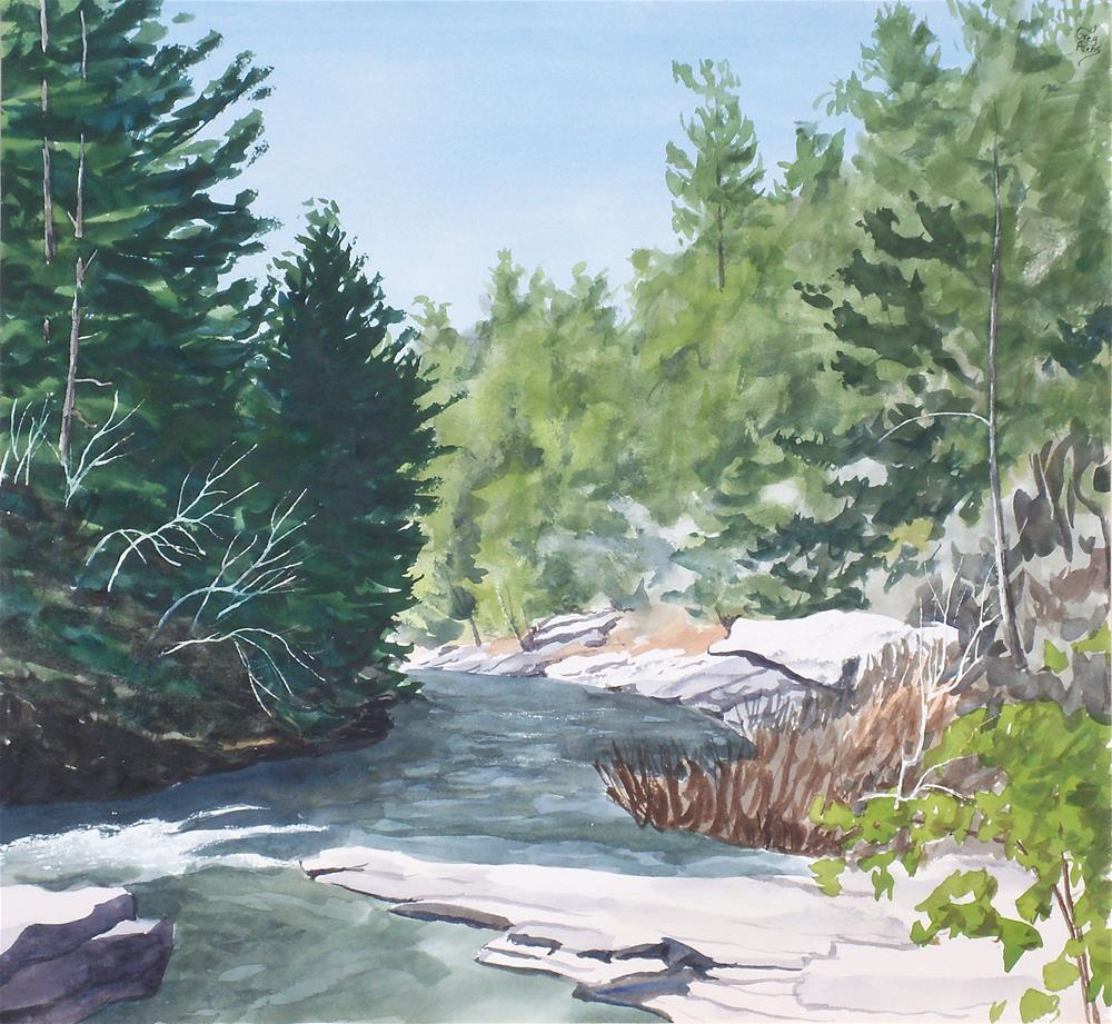 """Daddy's Creek II"" original fine art by Greg Arens"