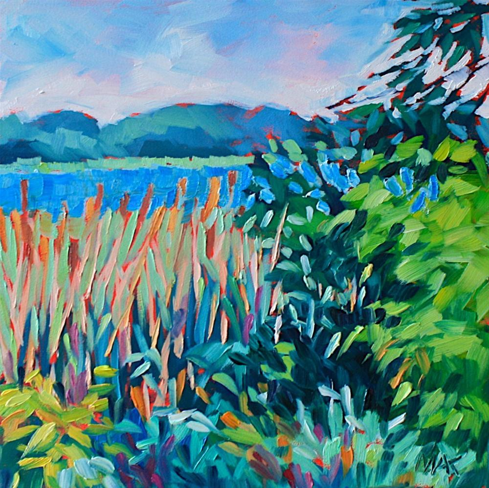"""Marsh Edge"" original fine art by Mary Anne Cary"