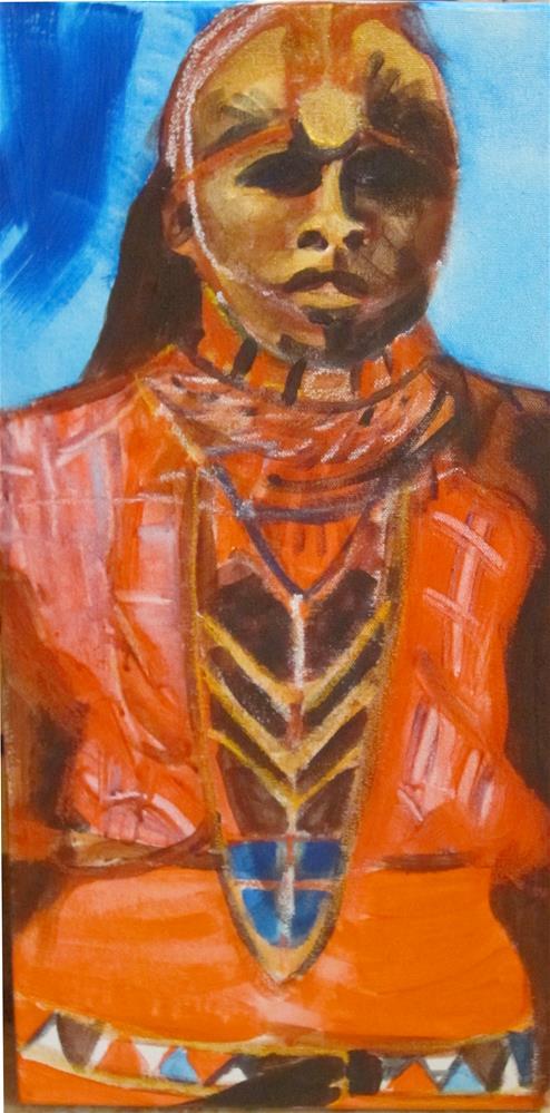 """Masai"" original fine art by Carol Wiley"