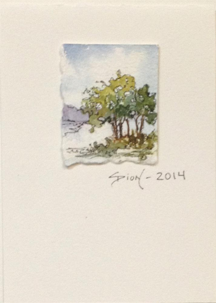 """Miniature Landscape #10"" original fine art by Sue Dion"